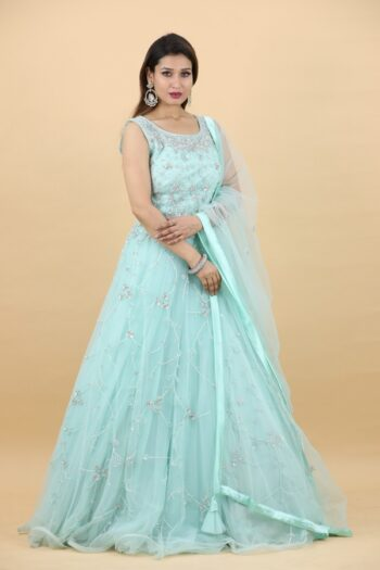 House of Surya | Sea Green Gown | Surya Sarees