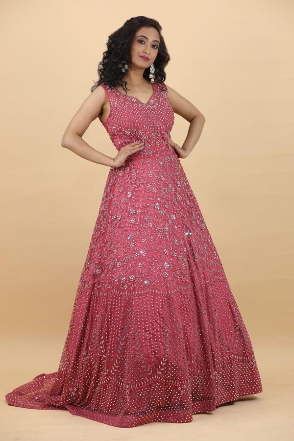 House of Surya | Gazri net Gown | Surya Sarees