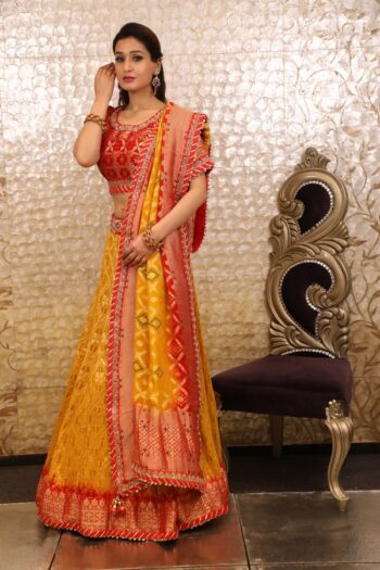House of Surya | Yellow Lehenga Choli | Surya Sarees