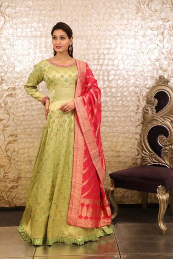 House of Surya | Pista Colour Gown (Surya Sarees) (18)