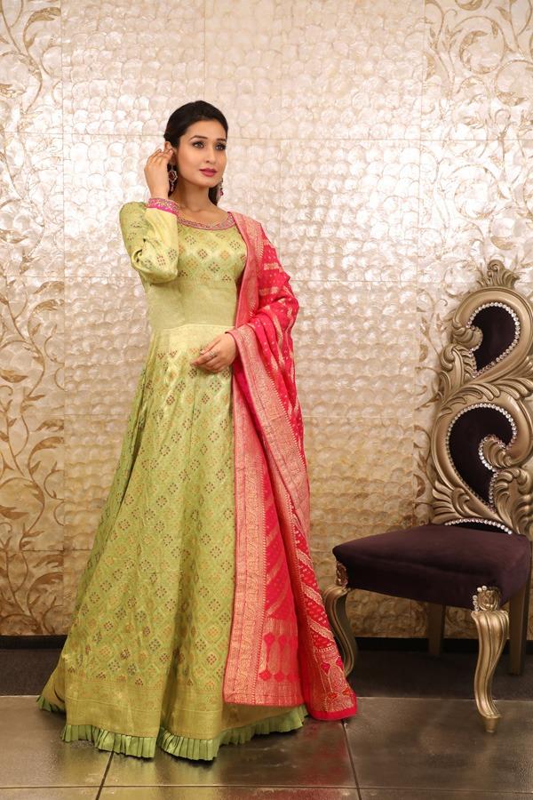 House of Surya | Pista Colour Gown (Surya Sarees) (18)