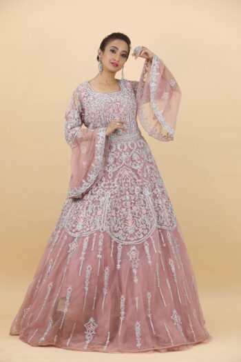 House of Surya | Peach Colour Gown | Surya Sarees