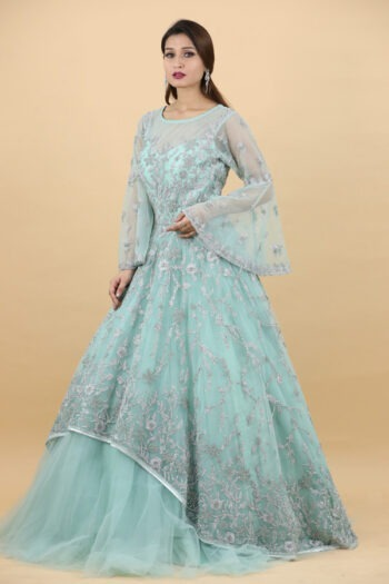 House of Surya | Sea Green Gown | Surya Saree