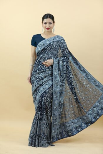 Royal Blue Saree   House of Surya   Surya sarees