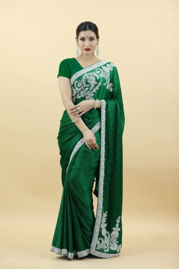 Bottel Green Saree | House of Surya | Surya sarees