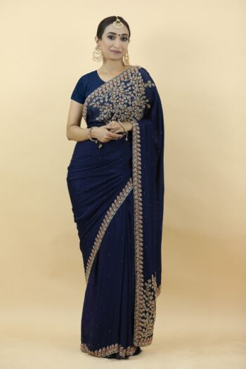 Royal Blue Saree | House of Surya | Surya Sarees