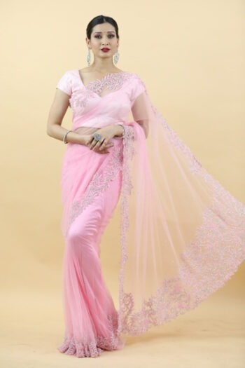 Pink Saree | House of Surya | Surya sarees