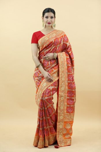 Red Dola Silk Saree | Surya sarees | House of surya