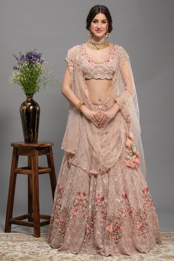 Peach Colour Lehenga Choli | Surya sarees | House of surya