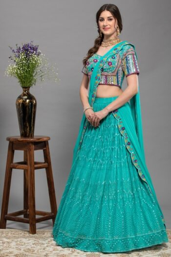 Lucknowi Chikan Firozi Drape saree | surya sarees | House of Surya