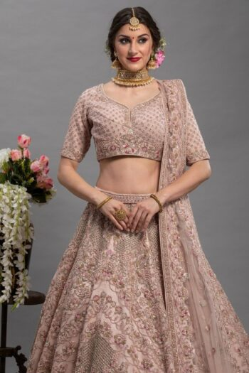 Peach Colour Bridal lehenga Choli | House of surya | surya sarees