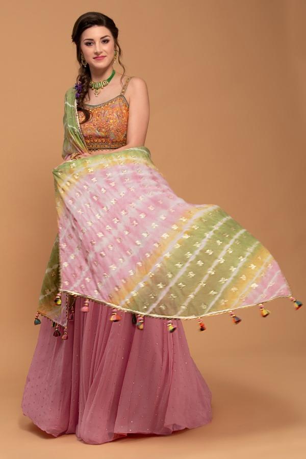 Pink Lehenga Choli | House of surya | surya sarees