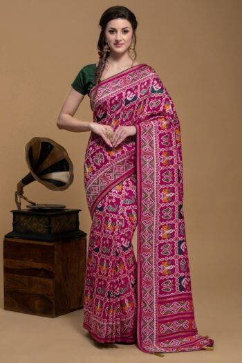 Pink Saree in Silk | House of Surya | Surya sarees