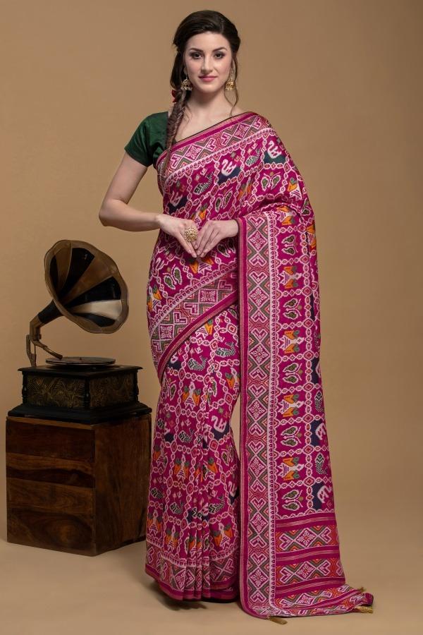 Pink Saree in Silk | House of Surya | Surya sarees